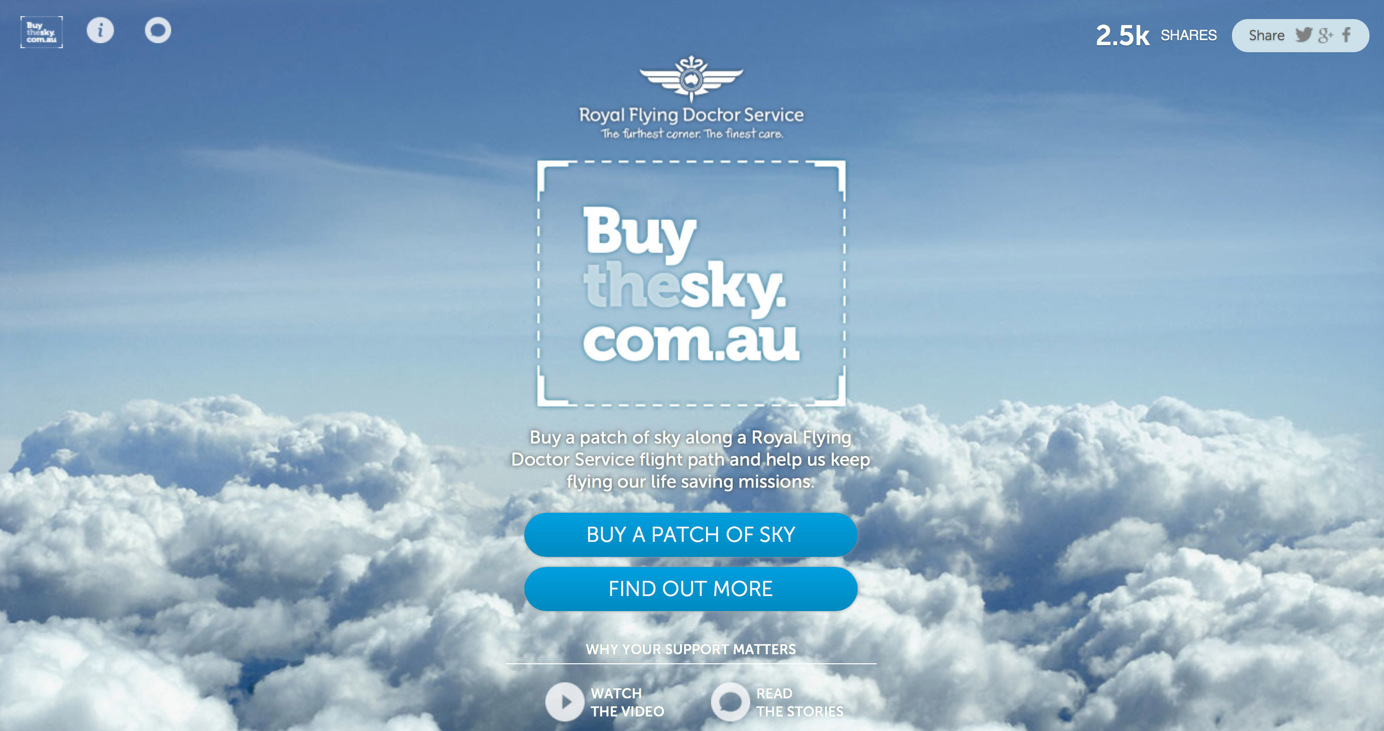 Buy The Sky - Donation Site